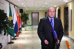 Интервью М. Мишустина на заседании БРИКС