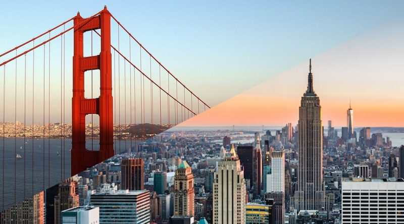 Нью Йорк Сан Франциско
